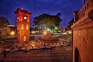 Malaysia, Malacca City, Tan Beng Swee Clock Tower on Dutch Square - DSGF000299