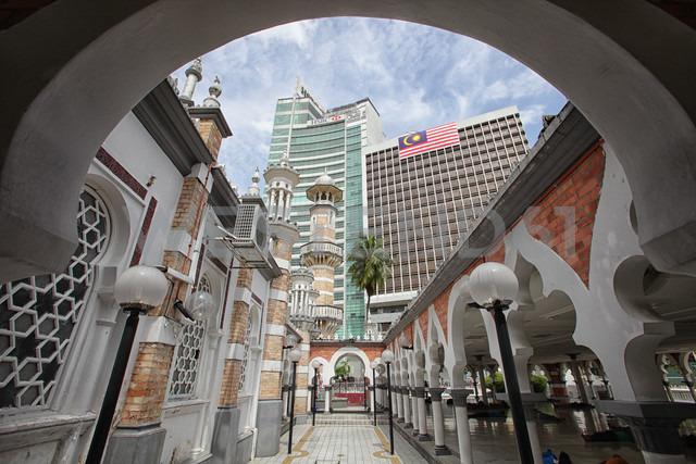 Malaysia, Kuala Lumpur, Masjid Jamek Mosque - DSG000804