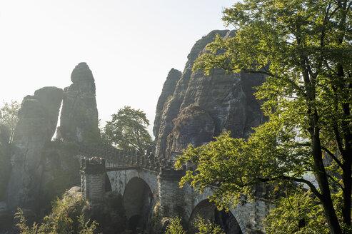 Germany, Saxony, Saxon Switzerland, National Park, Bastei Bridge - MJ001369
