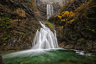 Spain, Albacete, Sierra de Riopar, Waterfalls at the source of Mundo river - DSGF000642