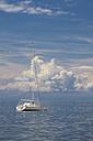 Slovenia, Istria, Koper, boat on Adriatic Sea - WIF001118