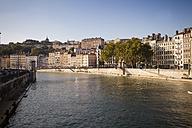 France, Department Rhone, Lyon, Buildings on the Saone River - SBDF001290