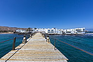 Spain, Canary Islands, Lanzarote, Punta de la Vela, Fishing village near Arrieta - AMF002910