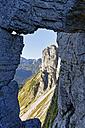 Austia, Styria, Salzkammergut, rock formation Loser window - SIEF006062