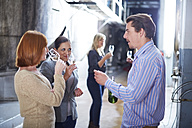 Wine tasting on shop floor - ZEF001465