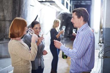 Wine tasting on shop floor - ZEF001465