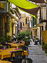 Italy, Sicily, Province of Palermo, Monreale, Restaurant in an alleyway - AM002927