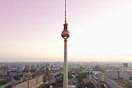 Germany, Berlin, Berlin TV Tower and cityscape in the evening light - MSF004312