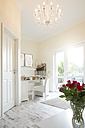 Work space at a white furnished bright room - FKF000702