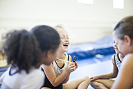 Happy young gymnasts with medal - ZEF002004