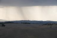Italy, Tuscany, Siena, Crete Senesi in the evening light and at rainfall - MYF000600