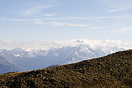 Italy, South Tyrol, Watles Area, View to Ortler Alps - MYF000613