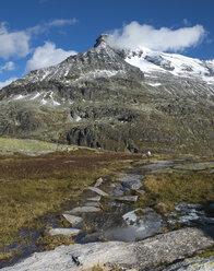 Austria, Salzburg State, Pinzgau, mountain stream at  Weisssee Gletscherwelt ski area - MKFF000134