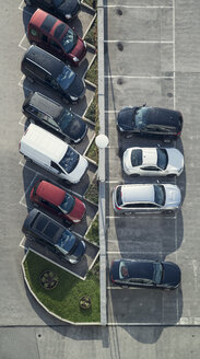 Rows of parking cars at car park, view from above - OPF000020