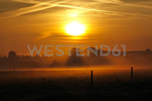 Germany, Saxony, Autum sun in the morning - JTF000584