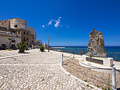 Italy, Sicily, Province of Trapani, Fishing village Castellammare del Golfo, Piazza Vincenzo Santangelo, Monument for lost seamen - AM003003