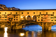 Italy, Tuscany, Florence, Ponte Vecchio, Blue hour - PUF000110