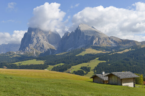 Italy, South Tyrol, Dolomites, Seiser Alm and Langkofel group - RJF000323