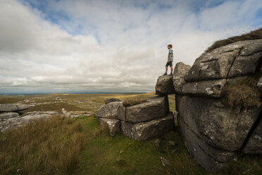 United Kingdom, England, Cornwall, Bodmin Moor, Rock formation Rough Tor - PAF001028