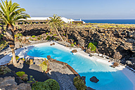 Spain,Canary Islands, Lanzarote, Jameos del Agua, swimming pool in lava cave - AM003100
