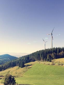 Wind turbines , Holzschlagermatte, Breisgau-Hochschwarzwald, Baden Wurttemberg,Germany - DRF001146