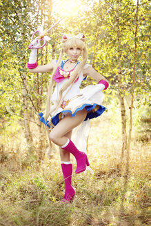 Woman wearing costume of Pretty Guardian Sailor Moon - AFF000096