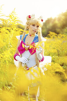 Woman wearing costume of Pretty Guardian Sailor Moon - AFF000098