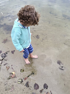 Boy wading in water - AFF000090