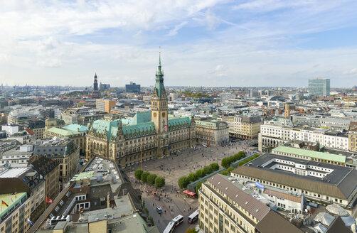 Germany, Hamburg, cityscape with city hall - RJF000337
