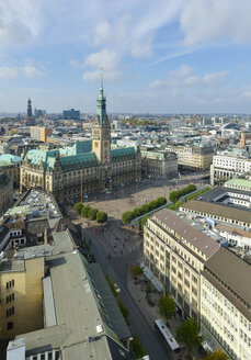 Germany, Hamburg, cityscape with city hall - RJF000340