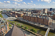 Germany, Hamburg, cityscape with Speicherstadt - RJF000343