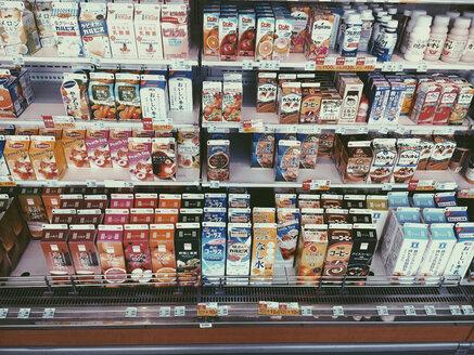 Beverages in japanese supermarket, Kyoto Japan - FL000541
