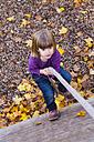 Little girl climbing upwards - LVF002077
