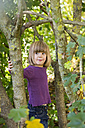 Portrait of girl in autumnal forest - LVF002079