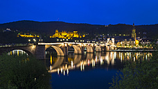 Germany, Baden-Wurttember, Heidelberg at blue hour - PUF000136