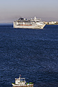 Turkey, Izmir, Aegean Region, Cruise liner and fishing boat - THA000844