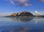 Italy, Sicily, Province of Palermo, Mondello, View to Monte Pellegrino, Palermo - AMF003112