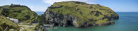 United Kingdom, England, Cornwall, Tintagel, Tintagel Castle,  Panorama - FRF000105