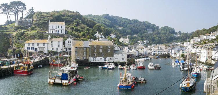 United Kingdom, England, Cornwall, Fishing village Polperro, Harbour - FRF000096