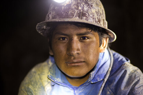 Bolivia, Portrait of silver miner - FP000005