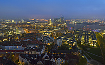 Germany, Hamburg, Cityscape at night - RJF000349