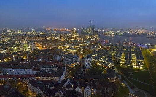 Germany, Hamburg, Cityscape at night - RJF000349