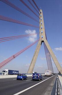 Germany, North Rhine-Westphalia, Duesseldorf, Flehe Bridge, Motorway A 46 - GUF000029