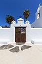 Spain, Canary Islands, Lanzarote, Haria, Church Santa Barbara - AMF003173