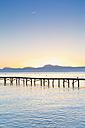 Spain, Balearic Islands, Majorca, Jetty at sunrise - MSF004345
