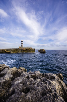 Spain, Mallorca, Colonia Sant Jordi, Lighthouse - THAF000866