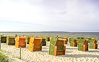 Germany, Mecklenburg-Vorpommern, Binz, beach with beach chairs - PUF000215