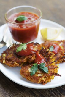 Savory Pumpkin Fritters with sweet tomato chilli sauce - HAWF000498