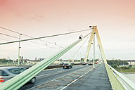 Germany, Cologne, traffic on Severins bridge - MEMF000465
