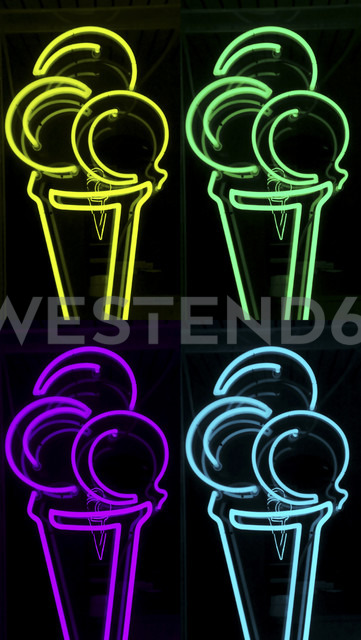 Illuminated ice cream advertisment - HOHF001102